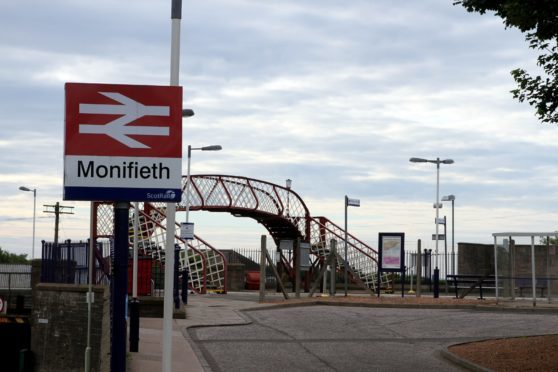 Monifieth railway station.