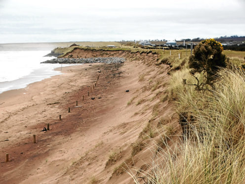 Erosion at the third tee of Montrose Medal golf course.