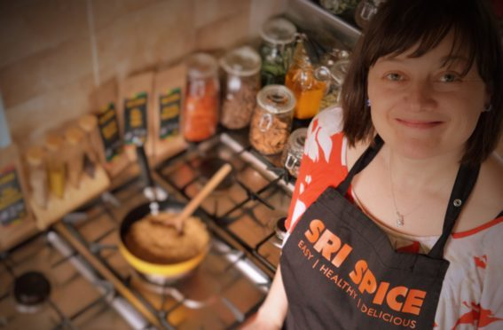 Thea Samuel of Sri Spice Ltd in her kitchen.