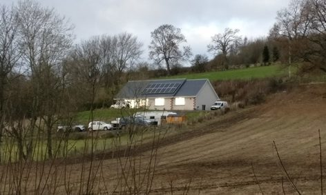 The house at the centre of the planning row near Kinloch.