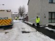 Police in Alyth after the death of John Donnachy.