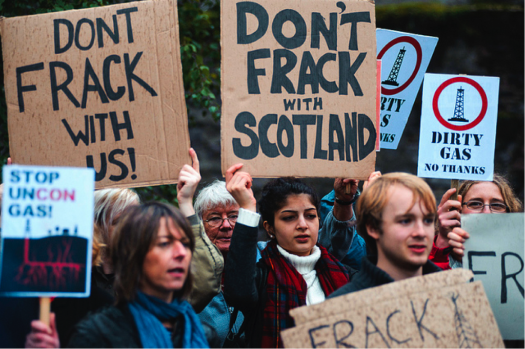 Anti-fracking protests