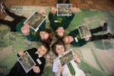 Some of the pupils from Falkland Primary School and Bell Baxter High, who took part in the charette.