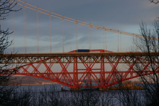 The Forth Bridge and Forth Road Bridge at South Queensferry, iconic sites indeed.