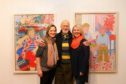 Norman with Tatha Gallery owners Helen Glassford and Lindsay Bennett
