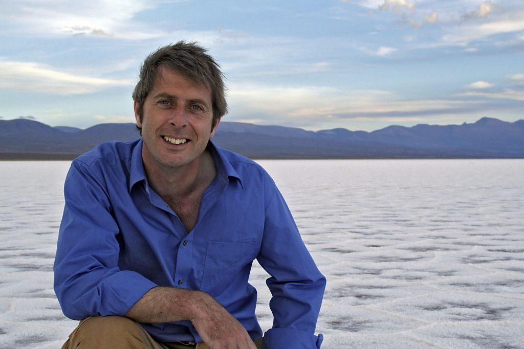Professor Iain Stewart, pictured in Salt flats, Purmamarca, Argentina