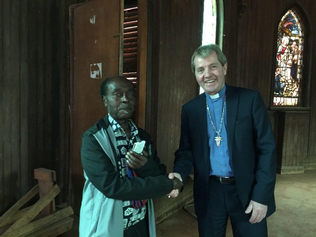 Professor David Ngugi and Right Rev Dr Russell Barr in Watson-Scott Memorial Church,