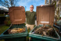 Alan Donaldson with his two full bins.