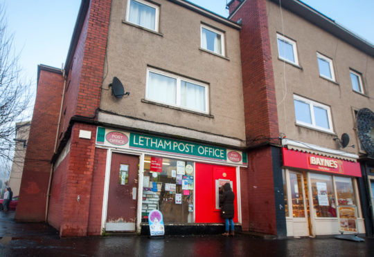 The old Letham post office, Rannoch Road, Perth.