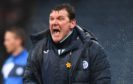 Tommy Wright celebrates at Dens Park.