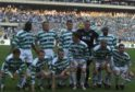 Didier Agathe (back, right) made it all the way to the UEFA Cup final with Celtic.