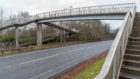 The pedestrian was knocked over and killed close to the walkway over the A911 near Windygates.
