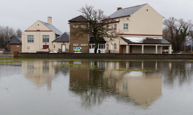 Flooding affected Rosyth on Wednesday