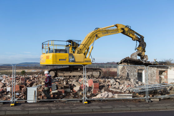 The Pickletillum Inn has been demolished to make way for flats and a house