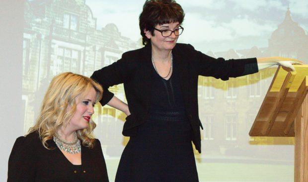 Ms Dames and Professor Mapstone