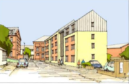 Drawings of the flats, designed by Mark Walker Architect
