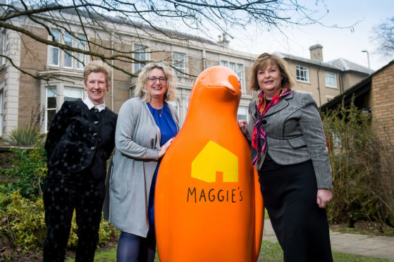 From left: Annie Long, Maggie's Centre Dundee Fundraising Manager, Alison Henderson Dundee & Angus Chamber of Commerce Chief Executive Officer and Fiona Hyslop MSP