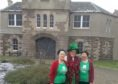 """Noeline Raitt, Cath Webster, Isa Carnochan before """"breaking out"""" of HMP Perth on Saturday."""