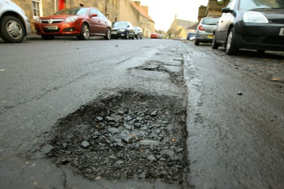 The public's perception is generally that potholes are getting worse - and this one in Cupar was a monster.