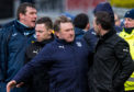Tommy Wright and Neil McCann are kept apart.