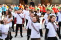 Over 350 primary children took part in the opening event.