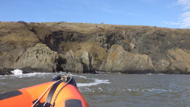 Kinghorn lifeboat was called to assist during the emergency operation.