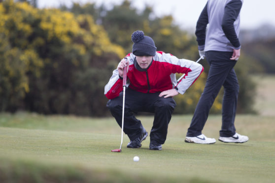 Sean Logue of Royal Montrose  was the highest placed local player on the opening day of the Scottish Boys'.