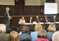 Education chiefs were given the hands-off message at a public meeting in Edzell
