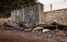 Cheryl Smith views the dumped rubble.