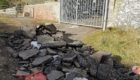 Fly-tipping outside the military bunker in Arbroath earlier this year.