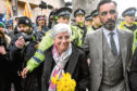 Catalan politician Clara Ponsati with lawyer Aamer Anwar.