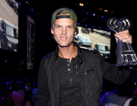 DJ Avicii backstage at the 2014 iHeartRadio Music Awards held at The Shrine Auditorium on May 1, 2014 in Los Angeles, California.