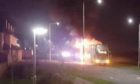 Stagecoach's 3A service bus went up in flames in Dunfermline on Friday evening