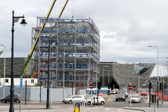 The emerging structure of the new building at Site Six in Dundee.