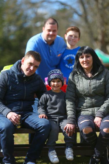 The Johnston family enjoying the carnival atmosphere.