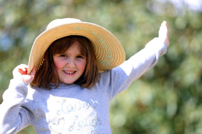 Matilda Nelson (8) in her Easter bonnet.