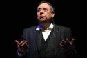 Alex Salmond on stage at the Caird Hall in Dundee.