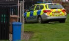 Police at Miller Street in Kirkcaldy.