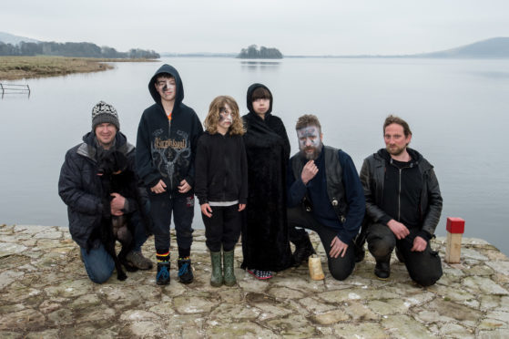 Ross Anderson, Jude Anderson, 10, Andrew Vassiliadis, 7, Natalia Teo, 10, David Henderson and Pan Filis