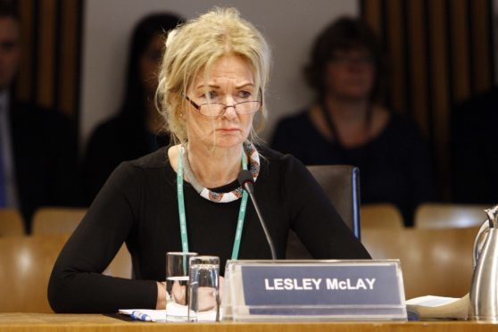 Lesley McLay, former Chief Executive of NHS Tayside