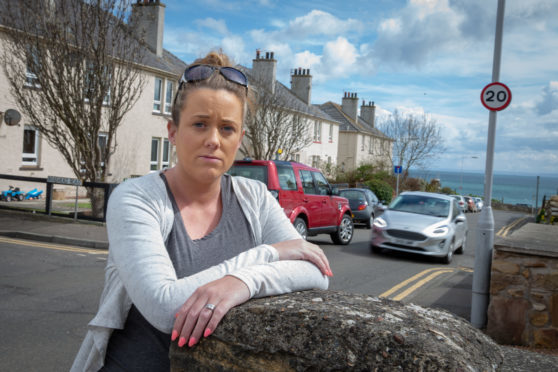 Kimberley Brown, stands at the spot where Skye was knocked down and killed.