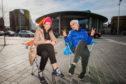 Elena and Yulia Itin outside Perth Concert Hall