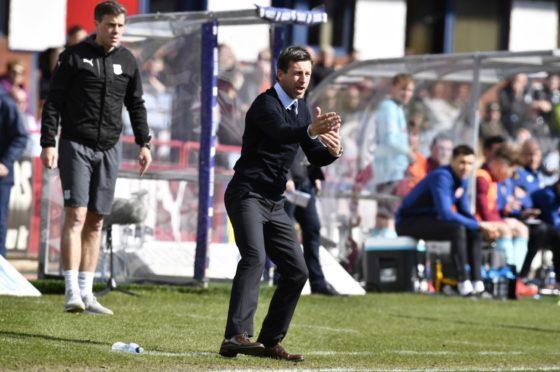 Dundee boss Neil McCann,.