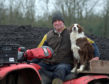 "John Davidson farms manager, with dog Peg, at Penicuik Estate uses  thermal hydrolysis on the land as fertilizer. See Centre Press story CPPOO; ""Poo cakes"" made out of human waste intended to be used as fertiliser have been poo-pooed by farmers who say it may see crops rejected by the whisky industry. The unique idea was put forward to farmers as a cost-effective alternative to expensive artificial fertilisers which can cost up to £250 per tonne. Despite the human waste cakes costing only £2.45 per tonne - the National Farmers Union has warned its members against using the ""poo cakes"". The NFU believes that crops using the thermal hydrolysis -- or TH cakes -- could be rejected by the money-spinning whisky industry. Organic matter is removed from 165 tonnes of sludge processed at Scottish Water's Seafield treatment site every day."