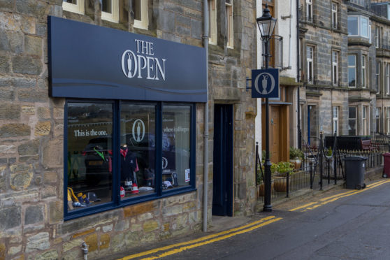 The rebranded shop on The Links, overlooking the Old Course.