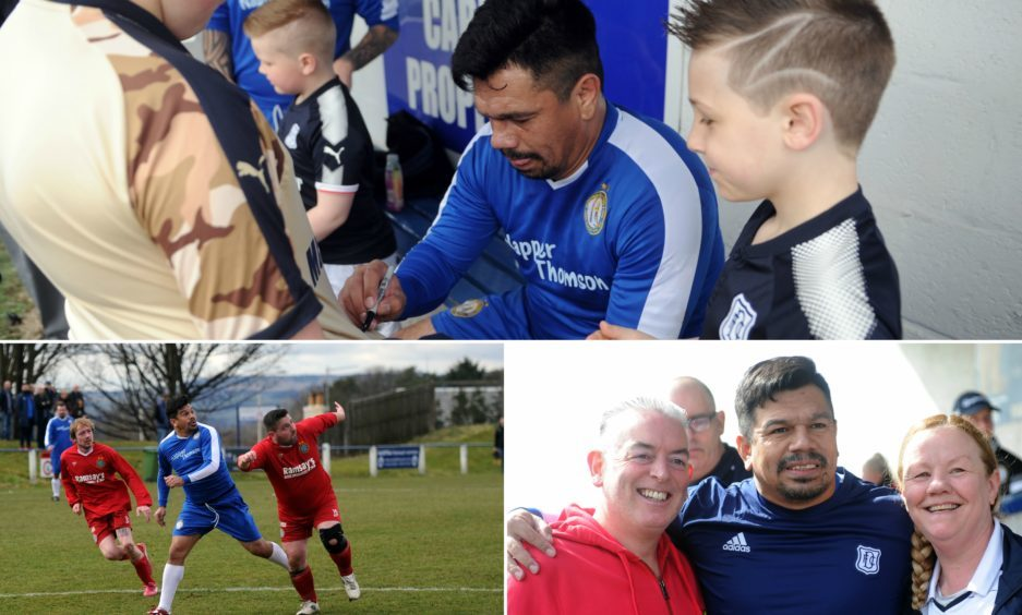 Fabian Caballero met with fans in Dundee