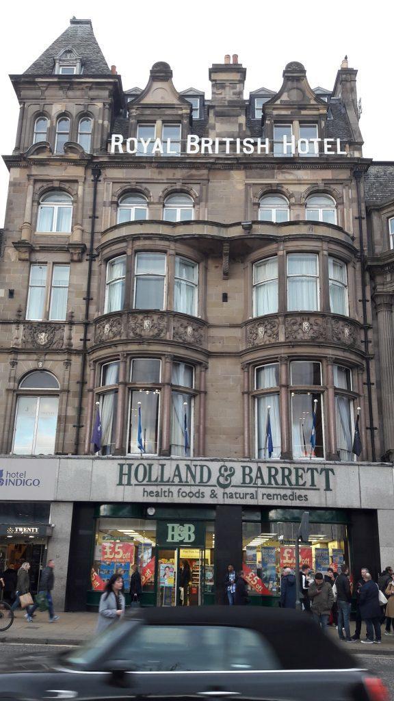 First glimpse of Hotel Indigo Edinburgh on Princes Street