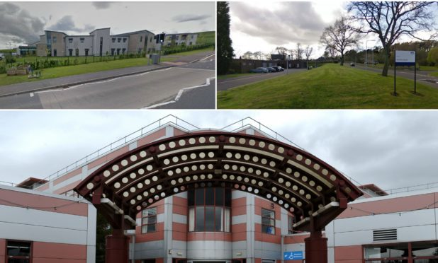 St Andrews, Glenrothes and Queen Margaret hospitals.