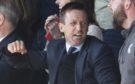 Neil McCann celebrates Dundee's winner last week. against St Johnstone.