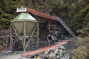 The entrance to the Pike River coal mine is seen in Greymouth, New Zealand,